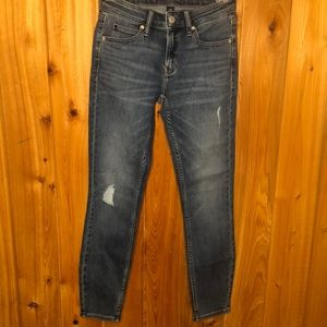 NWOT Calvin Klein Distressed Mid-Rise Skinny Jeans